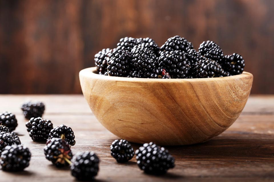 A little bit of stevia sweetens a savory sauce made with blackberries.
