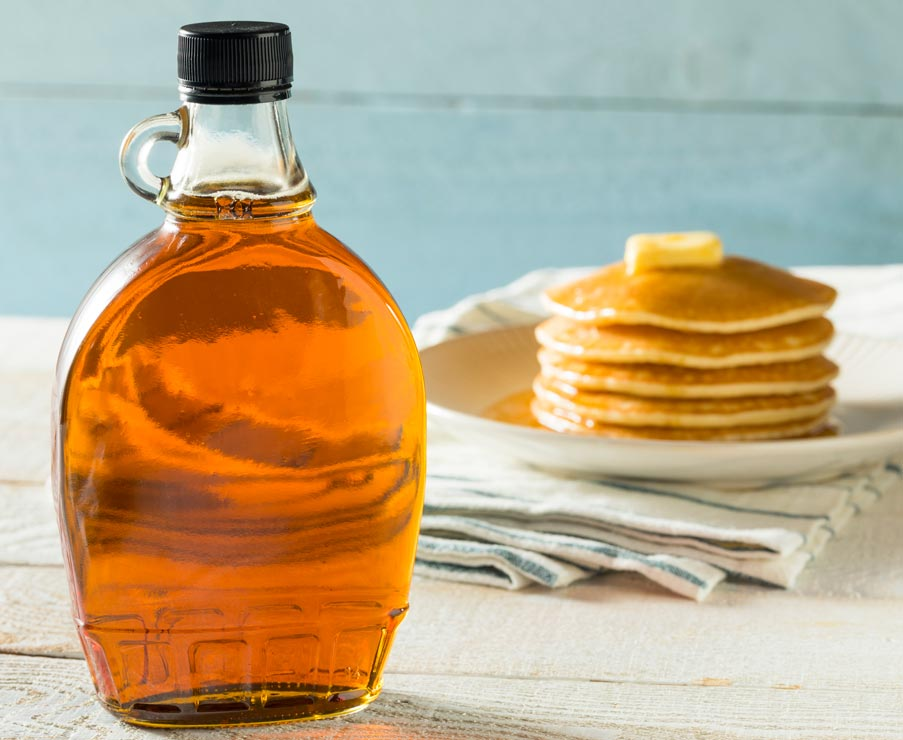 Learn how to make sugar-free maple syrup with stevia.