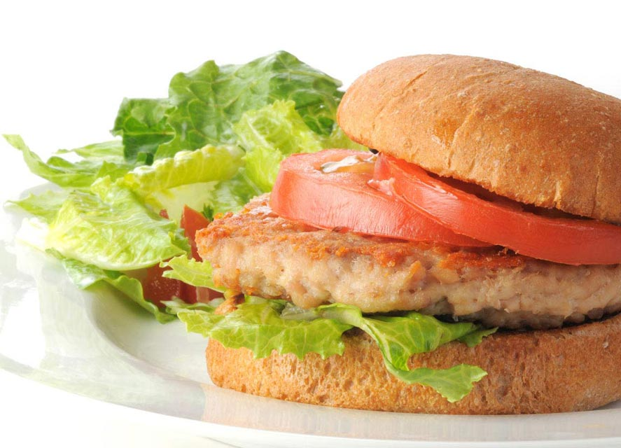Top this low-fat turkey burger with a stevia-sweetened sauce.
